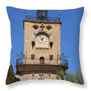 Clocktower - Aix En Provence Throw Pillow