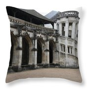 Cloister And Staircase Cathedral Tours Throw Pillow
