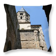 Cloister Cluny Church Steeple Throw Pillow