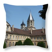 Cloister Cluny Garden View Throw Pillow