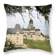 Cloister Fontevraud View - France Throw Pillow
