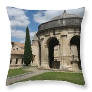 Cloister Of Saint John Chartreuse Du Val De Benediction Throw Pillow