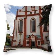 Cloister - St. Marienstern Throw Pillow