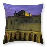 Cloisters At Sunset Arequipa Peru Throw Pillow