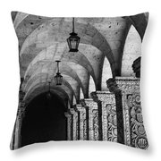 Cloisters In Arequipa Peru Throw Pillow