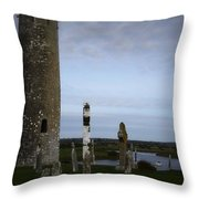 Clonmacnoise On The River Shannon Throw Pillow