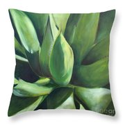 Close Cactus II - Agave Throw Pillow