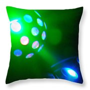 Close Contact With A Green Ufo Throw Pillow