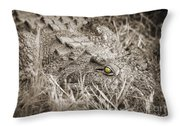 Close Crocodile  Throw Pillow