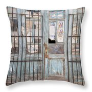 Closed Down Shop Throw Pillow