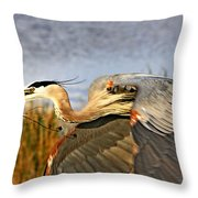 Close Flyby Throw Pillow