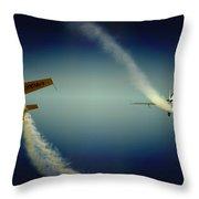 Close Flying Throw Pillow