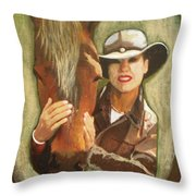 Close Friend Throw Pillow