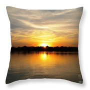 Close Of Day Throw Pillow