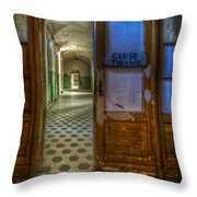 Close The Door Throw Pillow