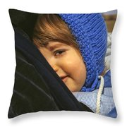 Close To My Daddy Throw Pillow