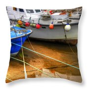 Close Up Boats Throw Pillow by Svetlana Sewell