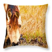 Close Up In The Marsh Throw Pillow