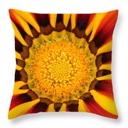 Close Up Marigold Throw Pillow