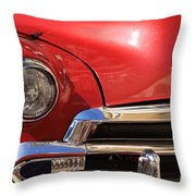 Close Up Of A Red Chevrolet Throw Pillow