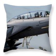 Close-up Of A U.s. Air Force F-15e Throw Pillow