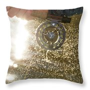 Close-up Of An Angler Fishing Throw Pillow