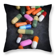 Close-up Of Capsules Throw Pillow