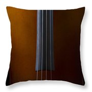 Close Up Of Cello Throw Pillow