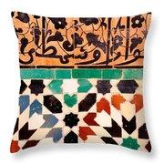 Close-up Of Design On A Wall, Ben Throw Pillow