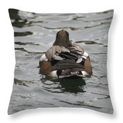Close Up Of Duck Back Throw Pillow
