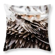 Close Up Of Heap Of Silver Forks Throw Pillow