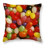 Close Up Of Jelly Beans Throw Pillow