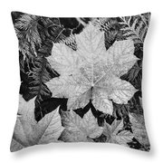 Close Up Of Leaves Throw Pillow