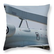 Close-up Of Radar On The Hellenic Air Throw Pillow