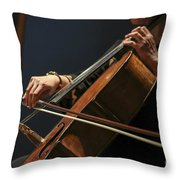 Close Up Of The Cellist's Hands Throw Pillow