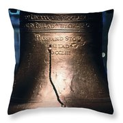 Close-up Of The Liberty Bell Throw Pillow