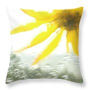 Close-up Of Yellow Wildflower In Grand Throw Pillow