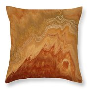 Close-up One Of Agate Seven From The Poured Agate Painting Collection Throw Pillow
