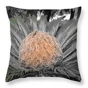Close Up Palm Throw Pillow