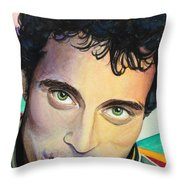 Close Up Portrait Rufus Sewell Throw Pillow