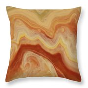 Close-up Two Of Agate Seven From The Poured Agate Painting Collection Throw Pillow