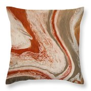 Poured Agate Painting Six Close-up Two Throw Pillow