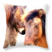 Close Your Eyes And Imagine That You Are Among Friends  Throw Pillow