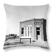 Closed Bank, 1936 Throw Pillow