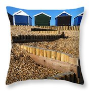 Closed For The Winter Throw Pillow