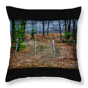 Closed Road Throw Pillow