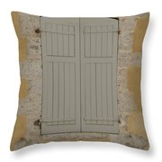 Closed Shutters Throw Pillow