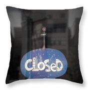 Closed Sleep Tight Throw Pillow