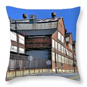 Closed Steel Mill Throw Pillow