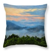 Closer To Heaven In The Blue Ridge Mountains Throw Pillow